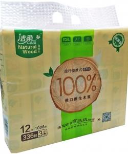 潔柔自然木3層28抽迷你面巾(12包)
