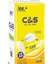 CP0016 潔柔C&S黃色軟抽(100抽) 四包裝